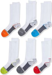 100 of Boys Fruit Of The Loom Assorted Color Crew Socks Size M 9-2