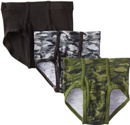 48 Units of Hanes Boys Printed Cotton Briefs Size Large - Boys Underwear