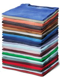 144 Units of Yacht & Smith Mens Cotton Short Sleeve T Shirts Mix Colors Size XL - Mens T-Shirts