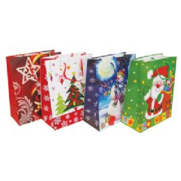 48 Units of Christmas Gift Bag 13 X 10.25 X 5 Inch Large - Christmas Gift Bags and Boxes