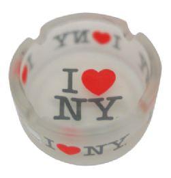 120 Units of Ashtray 3 Inch I Love Ny Frosted Glass - Ashtrays