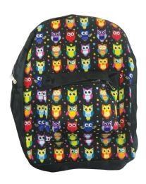 """18 Units of Back Pack 16x12x6 Inches Owls - Backpacks 16"""""""