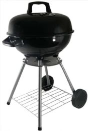 Kettle Charcoal Grill Round With Wheels 18 - BBQ supplies