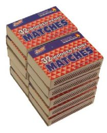 48 Units of Wooden Penny Matches 32 Count - BBQ supplies