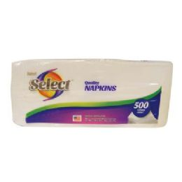 12 Units of Select Napkins 500-1 Ply Sheets 12 X 12 in - Napkin and Paper Towel Holders