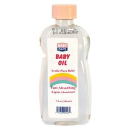 24 Units of Baby Days Baby Oil 7 oz - Baby Accessories