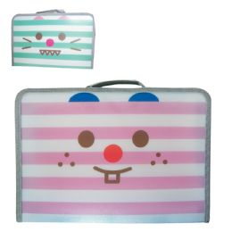 48 Units of Pride Brief Case With Zipper And Handle 14 X 10 Inches Pet Design Assorted Stripe Colors - Backpacks & Luggage