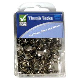 36 Wholesale Check Plus Thumb Tacks 300 ct