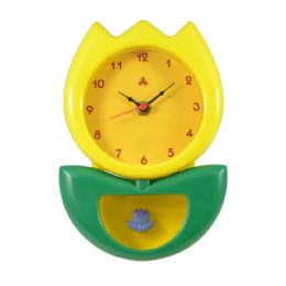 6 Wholesale Hanging Clock Flower Style in