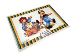 72 Units of Placemat Raggedy Ann And Andy Size 12 X 17 (plastic Material) - Placemats