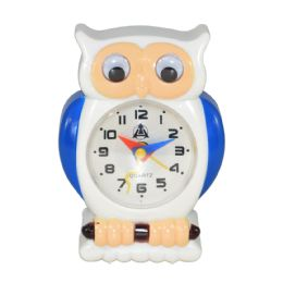 12 Wholesale Owl Design Alarm Clock In Box Battery Operated Size 3.5 X 2.5
