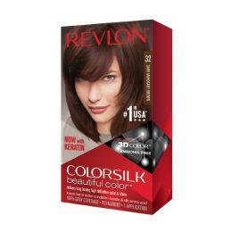 12 Units of Color Silk #32 Dark Mahogany Brown - Hair Products