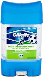 6 Units of Gillette 70ml Clr Gel Stk Pwdr Rush - Deodorant