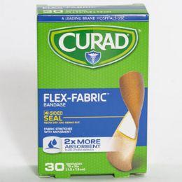 24 Bulk Bandages Curad 30ct Flex Fabric Boxed
