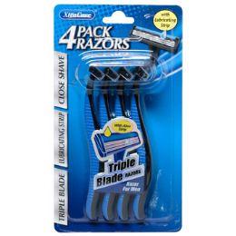 36 Units of Razors Mens Triple Blade 4pk Carded Xtracare - Shaving Razors