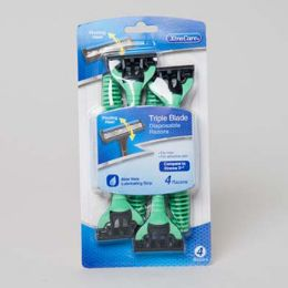 36 Units of Razors Pivot Head 4pk Mens Triple Blade Carded Xtracare - Shaving Razors