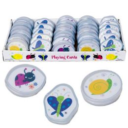 96 Units of Playing Cards W/plastic Case 3ast Spring Bugs In 48pc Pdq - Card Games