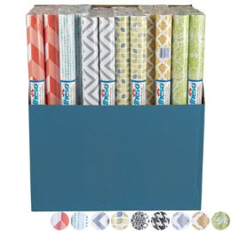 72 Units of Shelf Liner Adheso - Asst Prints 18in X 1.5yd Display - Kitchen Tools & Gadgets