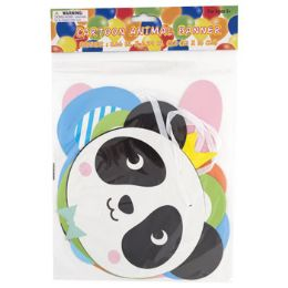 48 Wholesale Party Banner Cartoon Animal 62in