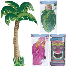 24 Wholesale Luau Party Jointed Cutout 3ast
