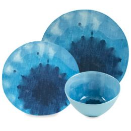24 Units of Dinnerware Deluxe Blue Lagoon - Kitchen & Dining