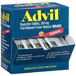 50 Bulk Advil Regular 2pk Box