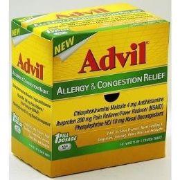 50 Bulk Advil Allergy Congestion 1pk Box