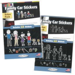 36 Units of Family Car Stickers Astd - Auto Accessories