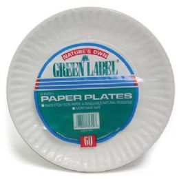 20 Units of Nature's Paper Plate 6in 60ct - Disposable Plates & Bowls