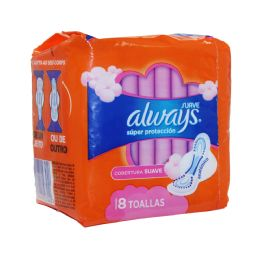 18 Units of Always 8ct Super Protection Max W/wings - Personal Care Items