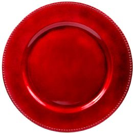 24 Units of Crown Dinnerware Charger Plate 13 Red - Glassware