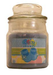 12 Bulk Candle 3 Ounce Baby Shower Blue