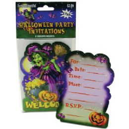 72 Wholesale Halloween Party Invitations 8 Count With Envelopes