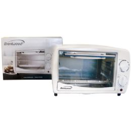 4 Units of Brentwood Toaster Oven 4 Slice Broiler White Ul Listed - Kitchen Tools & Gadgets