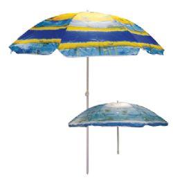 12 Wholesale Beach Umbrella 72 Inch Tropical Designs