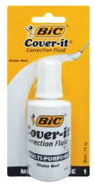 72 Bulk Bic Wite Out 0.70 Oz With Brush Applicator