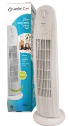 Comfort Zone Tower Fan 29 Inch 3 Speed Oscillating Etl Approved