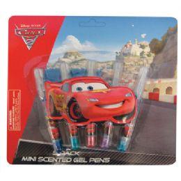 24 Bulk Cars 2 Mini Scented Gel Pens 5 Pack (lemon/apple/blueberry/grape/ Peach)