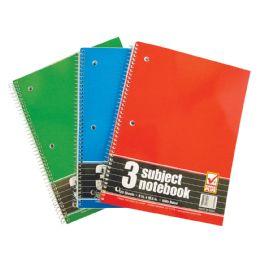 48 Bulk Spiral Notebook 3 Subject 120 Sheet 10.5 X 8 Inch Wide Ruled