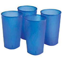 8 Units of Sterilite Tumbler Set 4 Pc 20 oz - Plastic Drinkware