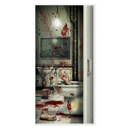 12 Units of Creepy Crapper Restroom Door Cover Indoor & Outdoor Use - Photo Prop Accessories & Door Cover
