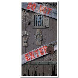 12 Units of Spooky Halloween Door Cover Indoor & Outdoor Use - Photo Prop Accessories & Door Cover