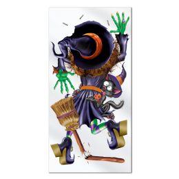 12 Units of Crashing Witch Door Cover Indoor & Outdoor Use - Photo Prop Accessories & Door Cover