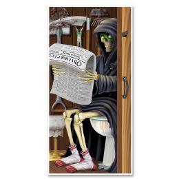 12 Units of Grim Reaper Restroom Door Cover Indoor & Outdoor Use - Photo Prop Accessories & Door Cover