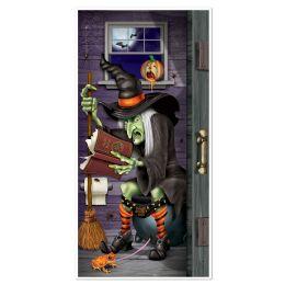 12 Units of Witch Restroom Door Cover Indoor & Outdoor Use - Photo Prop Accessories & Door Cover