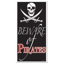 12 Units of Beware Of Pirates Door Cover Indoor & Outdoor Use - Photo Prop Accessories & Door Cover
