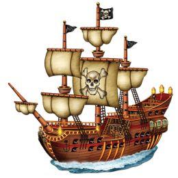 12 Bulk Jointed Pirate Ship Prtd 2 Sides