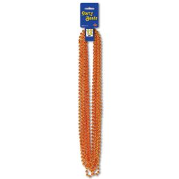12 of Party Beads - Small Round Orange