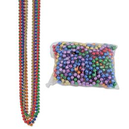 12 of Party Beads - Small Round Asstd Colors; Internet Friendly; No Retail Packaging