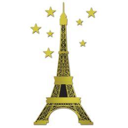 12 Bulk Jointed Foil Eiffel Tower Foil/prtd 1 Side